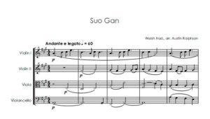 Suo Gan – string quartet