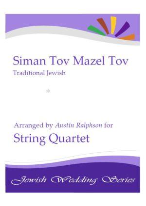 Siman Tov Mazel Tov סימן טוב ומזל טוב (Jewish Wedding) – string quartet
