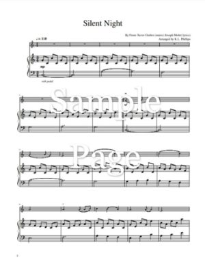 Five Christmas Carols for Solo Violin with Piano Accompaniment